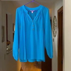 Lilly Pulitzer Silk Blouse L